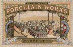 Factory trade card (circa Interesting trade card of the Royal Porcelain Works based on the drawing by James Callowhill, the directors given as Phillips and Binns.