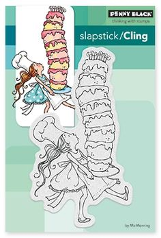 Tall Cake - Slapstick Cling Rubber Stamp