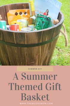 Summer Gift Baskets, Wine Gift Baskets, Themed Gift Baskets, Raffle Baskets, Summer Wine Drinks, Silent Auction Baskets, Best Gifts For Mom, Teen Girl Gifts, Spa Gifts