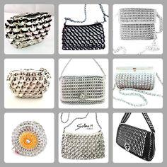 Sacs recyclé en capsules de canettes Solene M Retail & wholesale Contact: contact@emoi-france.fr www.facebook.com/accessoiressolenem