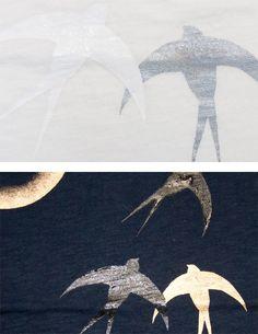 手描きTシャツ「燕」