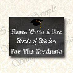 Congrats Grad Chalkboard Banner Graduation Party by JusPrintables
