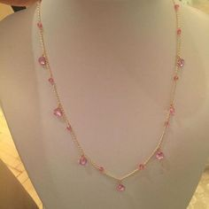 Gemdroplets Pink Topaz by Lily Flo Jewellery for the Royal Academy of Dance