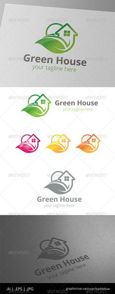 Green House Home Property - Logo Design Template Vector #logotype Download it here: http://graphicriver.net/item/green-house-home-property-logo/8465207?s_rank=764?ref=nesto