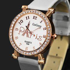Gogoey Women Watches Top Brand Luxury Rhinestone Watch Fashion Eiffel Tower Quartz Wristwatches relogio feminino reloj mujer