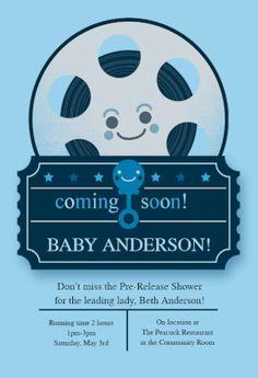 Movie Theme Boy - Free Printable Baby Shower Invitation Template | Greetings Island
