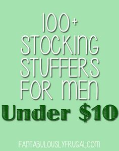 *100  Stocking Stuffers for Men Under $10*