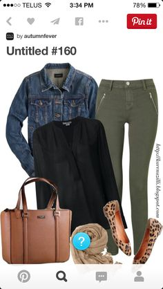 b27dd45752d0 Fearlessly Authentic    Olive and Leopard Fall Outfit featuring a Kate  Spade tote