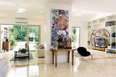 Found in an exclusive village, this family home boasts of bright and open spaces that even guests would love Philippines House Design, Philippine Houses, Interior Design Tips, Interior Designing, Design Ideas, Celebrity Houses, Home Hacks, Home Look, Cozy House