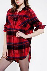 BDG Oversized Seamed Flannel Shirt - Urban Outfitters