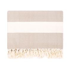 Diamond Blanket, Brown/Ecru // whitesmercantile.com
