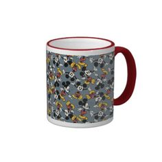 Mickey Mouse Blue Pattern Mug