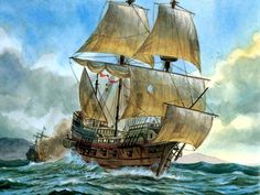 A Pirate's ship, battle worn, sailing on. Sometimes I feel like I'm doing battle inside my soul, ... the sea is rough, and visibility is limited. That's when I put my trust in the Lord. No pirate am I!