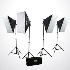 ePhoto H9004S4 3200 Watt Digital Photography Photo Video Continuous Lighting Light Kit Carrying Case by ePhoto. $199.99. This set up uses professional quality materials and provides excellent results as a stand-alone unit. It will also integrate perfectly with any additional studio lighting or gels that you may want to use for portrait or product shooting. The high output light stand is height adjustable to give you maximum flexibility and the softbox reflector on top create...