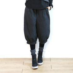 6303 纯色宽松休闲七分裤【3色】