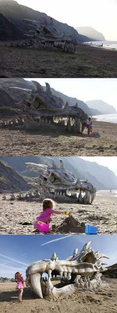 Huge dragon's head found in the UK - visit for more http://www.morepics.net/