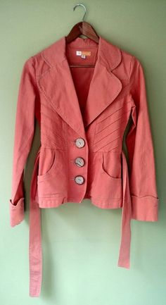 Anthropologie TULLE Orange Belted Cotton Jacket Size Medium M Large Buttons | Clothing, Shoes & Accessories, Women's Clothing, Coats & Jackets | eBay!