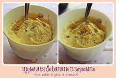 Inghetata-de-banane-fara-zahar Delicious Deserts, Yummy Food, Tasty, Baby Dishes, Desert Recipes, Raw Vegan, Baby Food Recipes, Parfait, Finger Foods