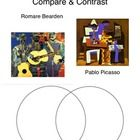 Students will compare two pieces of artwork by Pablo Picasso and Romare Bearden using a Venn Diagram.  ...