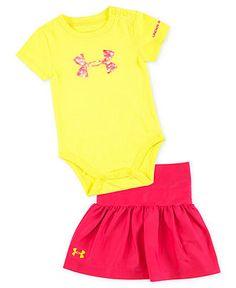 Under Armour Baby Set, Baby Girls 2-Piece Logo Bodysuit and Skirt - Kids - Macy's