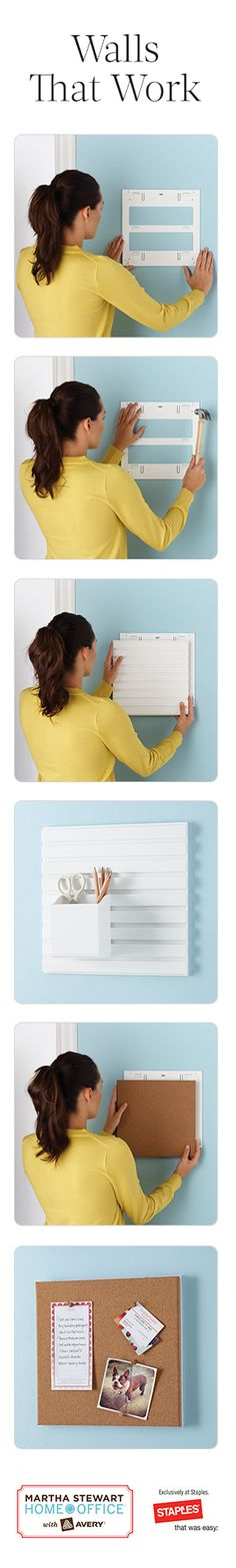 Get organized with wall manager solutions that are easy to install and customize.