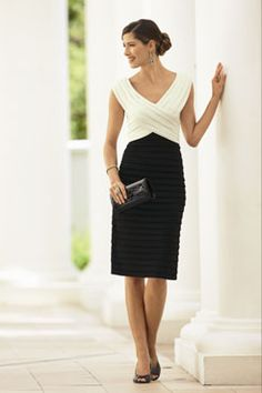 Black And White Mother Of The Bride Dress