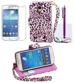 The Friendly Swede 2 in 1 PU Leather Folio Stand Wallet Case for Samsung Galaxy SIV Mini S4 Mini i9190 / i9192 / i9195 / i9198 + Stylus + Screen Protector + Cleaning Cloth in Retail Packaging (Purple Leopard), http://www.amazon.com/dp/B00EOFTYQ8/ref=cm_sw_r_pi_awdm_iAY2sb149C1XP