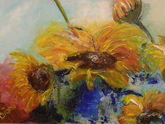 Sunflowers, acryl Diana Mol