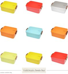One Good Thing: Candy-Colored Bento Boxes - Home - Creature Comforts - daily inspiration, style, diy projects + freebies