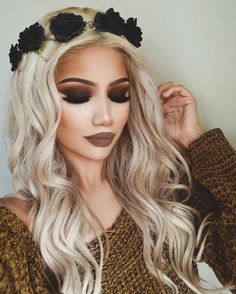 @evatornado makeup - hot and dark