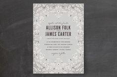 A Midsummer Night's Dream Wedding Invitations by Kristen Smith at minted.com