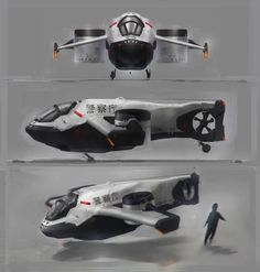 concept ships: Concept spaceship art by Long Ouyang