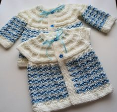 Baby Vest and Cardigan Set, Hand Knitted Baby Vest and Baby cardigan by neslyhandmade on Etsy