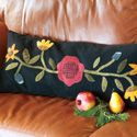 Felted Folk Art: Scrappy Floral Wool Appliqué Pillow Pattern, featured in America Loves Scrap Quilts Winter 2012/2013