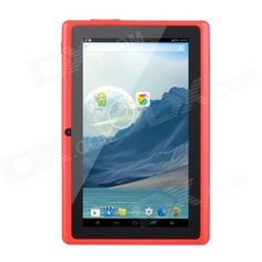 """7.0"""" TFT Dual-Core Android 4.4 Tablet PC w/ 4GB ROM, Dual-Camera, TF - Black + Red - From 79,= for Euro 42,45"""