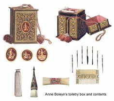 Anne Boleyn's Toiletry Box and Contents by That Boleyn Girl, via Flickr