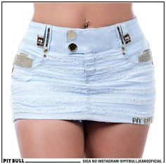 Shorts Saia PIT BULL JEANS Skirt Outfits, Sexy Outfits, Sexy Dresses, Cute Outfits, Mini Skirt Dress, Sexy Skirt, Cute Skirts, Mini Skirts, Pit Bull Jeans