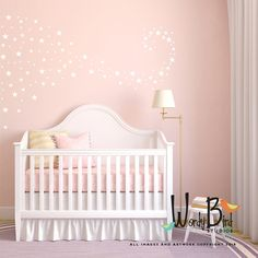 Star Confetti wall decals for baby nursery set of 129 Gives the look or wallpaper or stencils without the mess and fuss. First photo wall Ombre look created using 3 sets on approximately a 10 foot wide space. Use your creativity to create any pattern you like on one accent wall or a