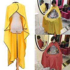 Beauty Tools 2 color Styling Tools Capes Hair Cut Salon Hairdressing Hairdresser Viewing Window Barber Cloth