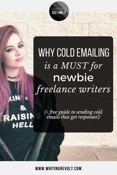 Wanna try cold pitching to land freelance writing clients? I'm walking you through WHY cold emailing is the best way for beginner freelance writers to land clients + giving you a free guide to writing emails that get responses! | make money writing online | freelance writing tips | freelance writer