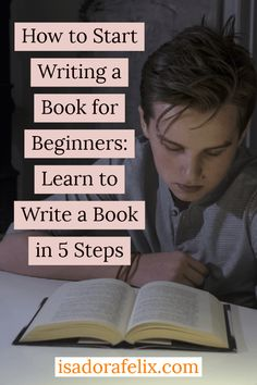 How to START Writing a Book for Beginners: Learn to Write a Book in 5 Steps Learn how to write a book, how to start writing a book for beginners, how to finish writing a story, and more. English Writing Skills, Book Writing Tips, Writing Quotes, Start Writing, Writing Help, Writing Guide, Writing Lyrics, Writing Prompts, Learning To Write