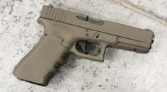 Glock 17 in Flat Dark Earth Cerakote #guns #tactical #glock