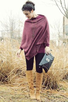 suddenly ponchos seem like the way to go. And cashmere is awesome!