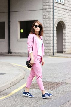13 Ways to Wear a Crisp, Bright Summer Suit. Amy Bell, shot in Scotland for The Little Magpie, via Lookbook