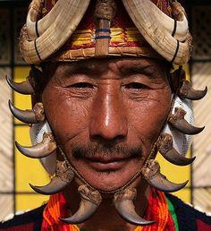 India ~ Nagaland | Yimchungru tribesman during Hornbill Festival  | © Jeremy Hunter