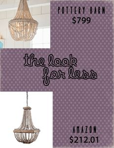 -The Look For Less-Beaded Chandelier-Lighting-Home Decor-Cheap-Amazon-Pottery Barn- #homedecor #lookforless