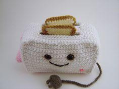 Crochet Toaster Plushie by Yummy Pancake, via Flickr