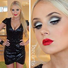 Omg I love Lauren Curtis she has so much passion and she puts a lot of hard work into her makeup . This is her New Year's Eve makeup