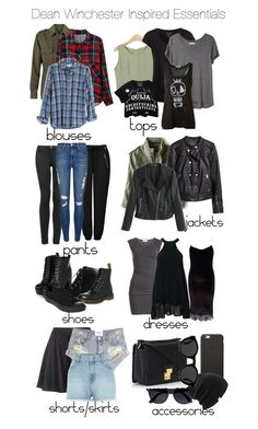 A fashion look from January 2015 featuring mini dress, lace cocktail dresses and plaid shirts. Browse and shop related looks. Tv Show Outfits, Fandom Outfits, Edgy Outfits, Teen Fashion Outfits, Cute Casual Outfits, Fashion Dresses, Supernatural Inspired Outfits, Supernatural Fashion, Supernatural Dean