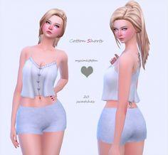 Cotton shorts at Simlife – mysimlifefou • Sims 4 Updates